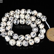 Natural-Dalmation-Jasper-Gemstone-Faceted-Round-Beads-15039039-4mm-6mm-8mm-10mm-12mm-370929400663-c6e3
