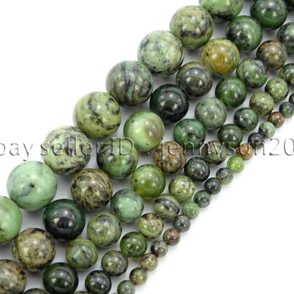 Natural-Dendrite-Green-Jade-Gemstone-Round-Spacer-Beads-155-4mm-6mm-8mm-10mm-371832288613