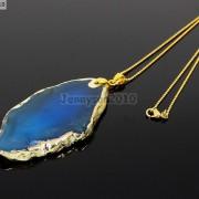 Natural-Druzy-Quartz-Agate-Gemstone-Sliced-Pendant-Charm-Bead-Necklace-18K-Gold-371320043278-167b