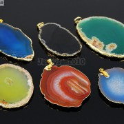 Natural-Druzy-Quartz-Agate-Gemstone-Sliced-Pendant-Charm-Bead-Necklace-18K-Gold-371320043278