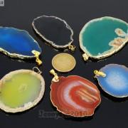 Natural-Druzy-Quartz-Agate-Gemstone-Sliced-Pendant-Charm-Bead-Necklace-18K-Gold-371320043278-2