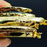 Natural-Druzy-Quartz-Agate-Gemstone-Sliced-Pendant-Charm-Bead-Necklace-18K-Gold-371320043278-3