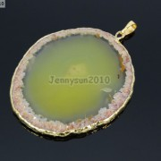 Natural-Druzy-Quartz-Agate-Gemstone-Sliced-Pendant-Charm-Bead-Necklace-18K-Gold-371320043278-d8df