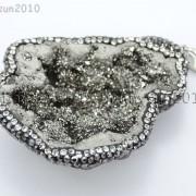 Natural-Druzy-Quartz-Agate-Geode-Czech-Crystal-Rhinestones-Pendant-Charm-Beads-262175353146-8486
