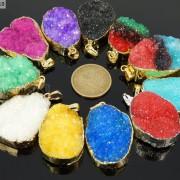 Natural-Druzy-Quartz-Agate-Nugget-Pendant-Charm-Beads-18K-Silver-Gold-Necklace-371315219758-2