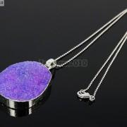 Natural-Druzy-Quartz-Agate-Nugget-Pendant-Charm-Beads-18K-Silver-Gold-Necklace-371315219758-30e9