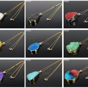 Natural-Druzy-Quartz-Agate-Nugget-Pendant-Charm-Beads-18K-Silver-Gold-Necklace-371315219758-4