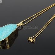 Natural-Druzy-Quartz-Agate-Nugget-Pendant-Charm-Beads-18K-Silver-Gold-Necklace-371315219758-47a2