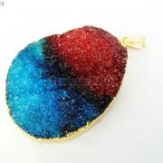 Natural-Druzy-Quartz-Agate-Nugget-Pendant-Charm-Beads-18K-Silver-Gold-Necklace-371315219758-51f0