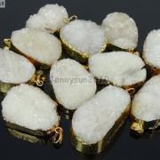 Natural-Druzy-Quartz-Agate-Nugget-Pendant-Charm-Beads-18K-Silver-Gold-Necklace-371315219758-6
