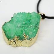Natural-Druzy-Quartz-Agate-Nugget-Pendant-Charm-Beads-18K-Silver-Gold-Necklace-371315219758-74a0