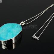 Natural-Druzy-Quartz-Agate-Nugget-Pendant-Charm-Beads-18K-Silver-Gold-Necklace-371315219758-7b85