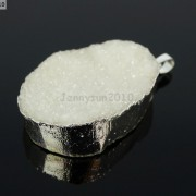 Natural-Druzy-Quartz-Agate-Nugget-Pendant-Charm-Beads-18K-Silver-Gold-Necklace-371315219758-84a7
