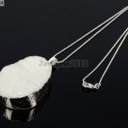 Natural-Druzy-Quartz-Agate-Nugget-Pendant-Charm-Beads-18K-Silver-Gold-Necklace-371315219758-8c32
