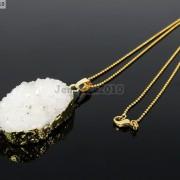 Natural-Druzy-Quartz-Agate-Nugget-Pendant-Charm-Beads-18K-Silver-Gold-Necklace-371315219758-9824