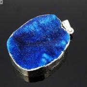 Natural-Druzy-Quartz-Agate-Nugget-Pendant-Charm-Beads-18K-Silver-Gold-Necklace-371315219758-bff7