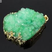 Natural-Druzy-Quartz-Agate-Nugget-Pendant-Charm-Beads-18K-Silver-Gold-Necklace-371315219758-d253