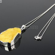 Natural-Druzy-Quartz-Agate-Nugget-Pendant-Charm-Beads-18K-Silver-Gold-Necklace-371315219758-dd31