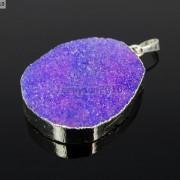 Natural-Druzy-Quartz-Agate-Nugget-Pendant-Charm-Beads-18K-Silver-Gold-Necklace-371315219758-f149