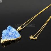 Natural-Druzy-Quartz-Agate-Triangle-Pendant-Gold-Edge-Charm-Beads-Necklace-18K-261879675276-1715