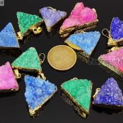 Natural-Druzy-Quartz-Agate-Triangle-Pendant-Gold-Edge-Charm-Beads-Necklace-18K-261879675276-2
