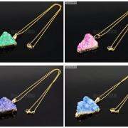 Natural-Druzy-Quartz-Agate-Triangle-Pendant-Gold-Edge-Charm-Beads-Necklace-18K-261879675276-4