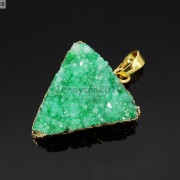 Natural-Druzy-Quartz-Agate-Triangle-Pendant-Gold-Edge-Charm-Beads-Necklace-18K-261879675276-46ac