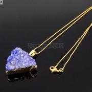 Natural-Druzy-Quartz-Agate-Triangle-Pendant-Gold-Edge-Charm-Beads-Necklace-18K-261879675276-5985
