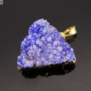 Natural-Druzy-Quartz-Agate-Triangle-Pendant-Gold-Edge-Charm-Beads-Necklace-18K-261879675276-85e8