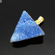 Natural-Druzy-Quartz-Agate-Triangle-Pendant-Gold-Edge-Charm-Beads-Necklace-18K-261879675276-cc6e