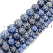 Natural-Dumortierite-Gemstone-Round-Spacer-Beads-155-6mm-8mm-10mm-12mm-282317113539-3