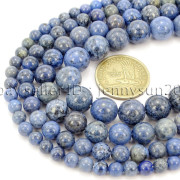 Natural-Dumortierite-Gemstone-Round-Spacer-Beads-155-6mm-8mm-10mm-12mm-282317113539-4