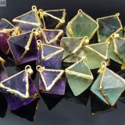 Natural-Fluorite-Gemstone-Octagonal-Pointed-Reiki-Healing-Pendants-Gold-Edge-261832014194-3
