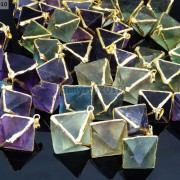 Natural-Fluorite-Gemstone-Octagonal-Pointed-Reiki-Healing-Pendants-Gold-Edge-261832014194-4