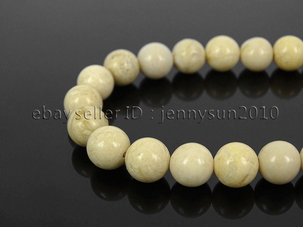 "8mm Riverstone Round Gemstone Loose Beads Strand 15.5/"" Jewelry Making Finding"