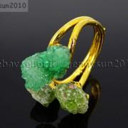 Natural-Freeform-Druzy-Crystal-Quartz-Gemstone-18K-Gold-Plated-Ring-Healing-371576364292-1a98