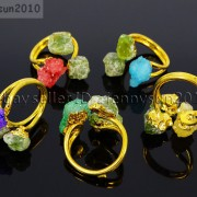 Natural-Freeform-Druzy-Crystal-Quartz-Gemstone-18K-Gold-Plated-Ring-Healing-371576364292-3