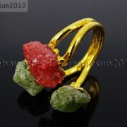 Natural-Freeform-Druzy-Crystal-Quartz-Gemstone-18K-Gold-Plated-Ring-Healing-371576364292-6305