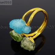 Natural-Freeform-Druzy-Crystal-Quartz-Gemstone-18K-Gold-Plated-Ring-Healing-371576364292-7932