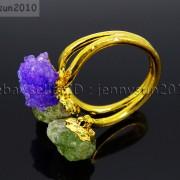 Natural-Freeform-Druzy-Crystal-Quartz-Gemstone-18K-Gold-Plated-Ring-Healing-371576364292-9cbd