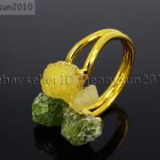 Natural-Freeform-Druzy-Crystal-Quartz-Gemstone-18K-Gold-Plated-Ring-Healing-371576364292-a6d4