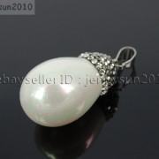 Natural-Freshwater-Cultured-White-Pearl-Crystal-Rhinestones-Pendant-Charm-Beads-281865019486-2