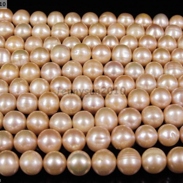Natural-Freshwater-Pearl-Freeformed-Potato-Beads-9mm-10mm-Rose-Peach-15-261341731177