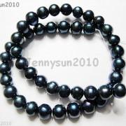Natural-Freshwater-Pearl-Potato-Beads-15-9mm-10mm-Dark-Peacock-Black-Grey-261213106269-2