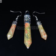 Natural-Gemstone-Healing-Hexagonal-Pointed-Reiki-Chakra-Pendant-and-Earrings-Set-371108649490-ed95