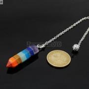 Natural-Gemstone-Layered-Hexagonal-Pointed-Reiki-Chakra-Healing-Pendum-Chain-Set-371294783171-3