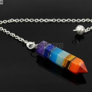 Natural-Gemstone-Layered-Hexagonal-Pointed-Reiki-Chakra-Healing-Pendum-Chain-Set-371294783171