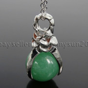 Natural-Gemstone-Round-Ball-Eagle-Claw-Falcon-Talons-Healing-Pendant-Charm-Bead-262762610662-1fab