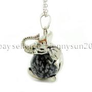 Natural-Gemstone-Round-Ball-Reiki-Chakra-Healing-Elephant-Pendant-Necklace-Beads-262733039975-d4ba