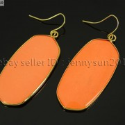 Natural-Gemstone-Sliced-Healing-Reiki-Chakra-Pendant-18k-Gold-Plated-Earrings-262095369860-df0a